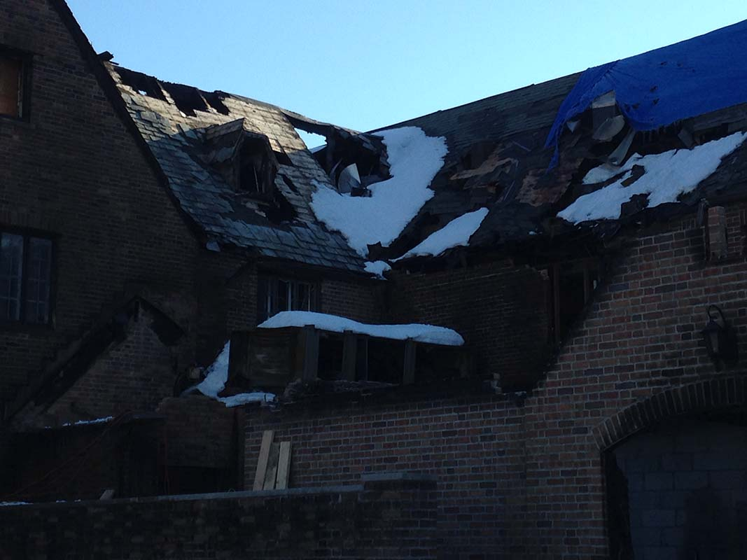 Ardsley Country Club fire damage